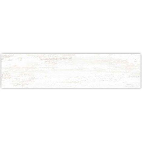 Carrelage imitation parquet rectifié blanc mat EFESO-R BLANCO 14.4x89.3 cm - 1.29m²