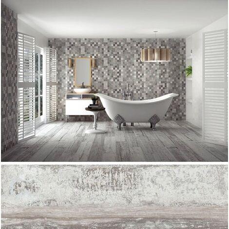 Carrelage imitation parquet vieilli ORIGEN GRIS - 20.2x66.2CM - 1.20 m²