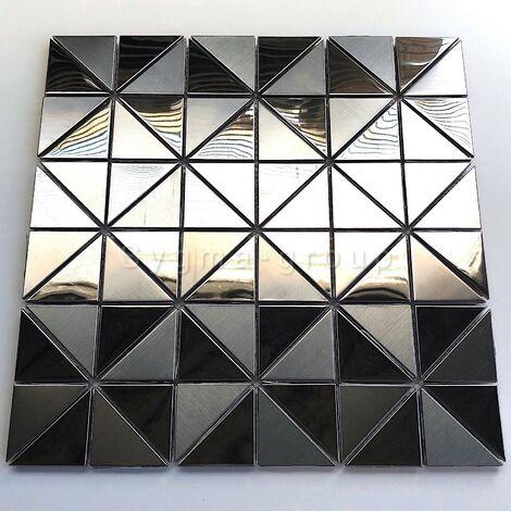 carrelage inox miroir mosaique en acier inoxydable pour mur modele KUBU