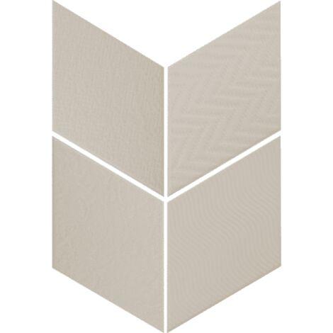 Carrelage losange diamant 14x24cm gris clair relief ref. 21290 RHOMBUS MAT - 1m²