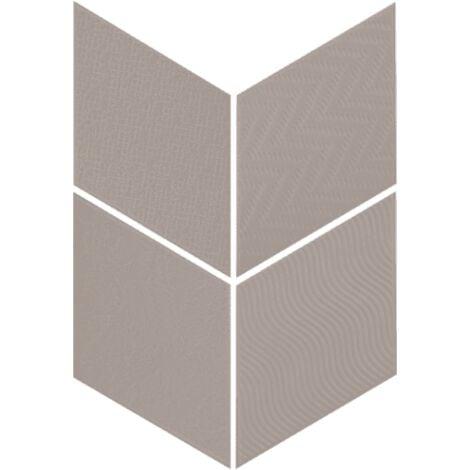 Carrelage losange diamant 14x24cm gris foncé relief ref. 21293 RHOMBUS MAT - 1m²