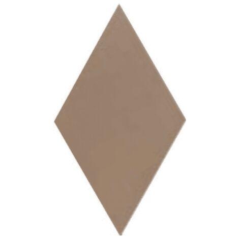 Carrelage losange diamant 14x24cm taupe lisse ref. 22690 RHOMBUS MAT - 1m²