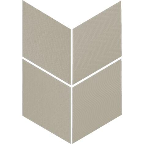 Carrelage losange diamant 14x24cm vert relief ref. 21311 RHOMBUS MAT - 1m²