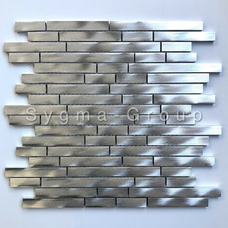 Carrelage metal aluminium pour credence de cuisine et mur Zelki