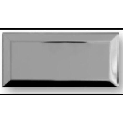 Carrelage Métro Argent miroir 7.5x15 cm - unité