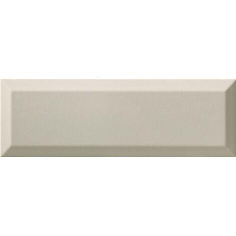 Carrelage Métro biseauté 10x30 cm gris clair brillant - 1.02m²