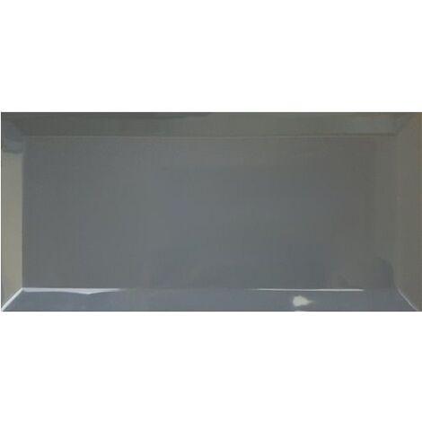 Carrelage métro biseauté 10x30 cm gris foncé avon - 1.02m²