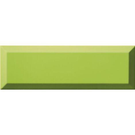 Carrelage Métro biseauté 10x30 cm menta vert pomme brillant - 1.02m²