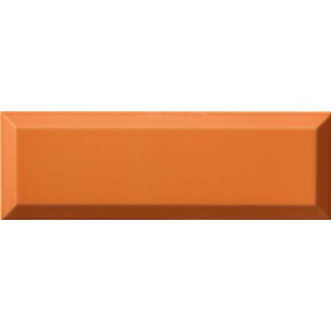 """main image of """"Carrelage Métro biseauté 10x30 cm naranja orange brillant - 1.02m²"""""""
