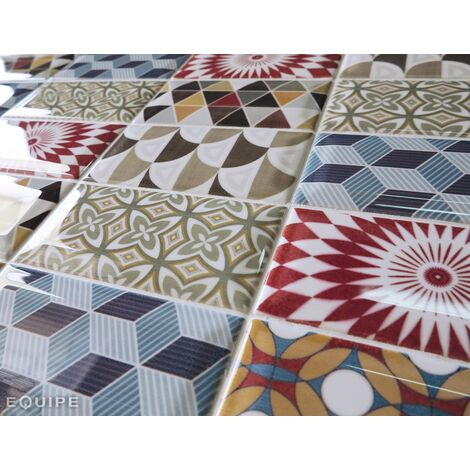 Carrelage METRO décor ciment PATCHWORK Colours 7.5x15 cm 20922 - 0.5m²