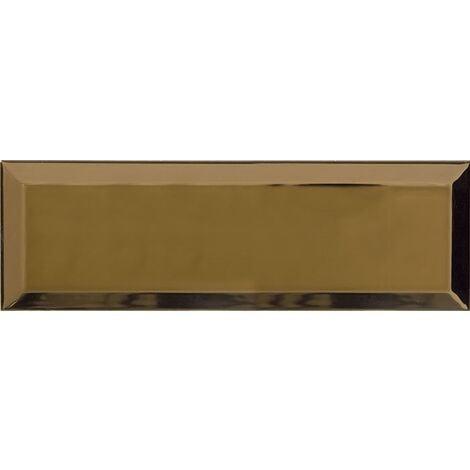Carrelage Métro doré Or 10x30 cm - unité