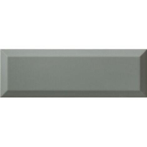 Carrelage métro gris vert cendré biseauté 10x30 cm Sage Brillant - 1.02m²