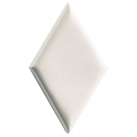Carrelage mini-losange blanc à relief 15x8.5cm ROMBO14 FARINA BORDS BOMBES - 0.20m²