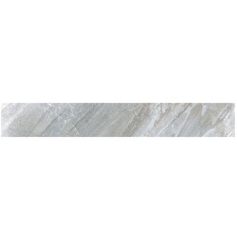 Carrelage moderne gris imitation pierre rectifié 15x120cm (14.3x119.3cm) GREYSTONE-R LEATHER - 1.02m²