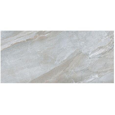 Carrelage moderne gris imitation pierre rectifié 60x120cm GREYSTONE-R LEATHER - 1.415m²