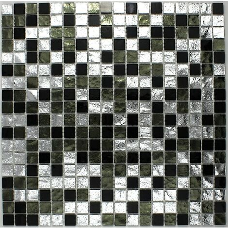 carrelage mosaique cuisine salle de bain Strass Nero