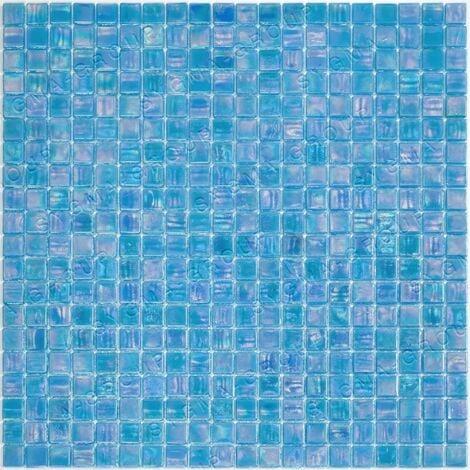 Carrelage mosaique de verre pour salle de bain Imperial Bleu