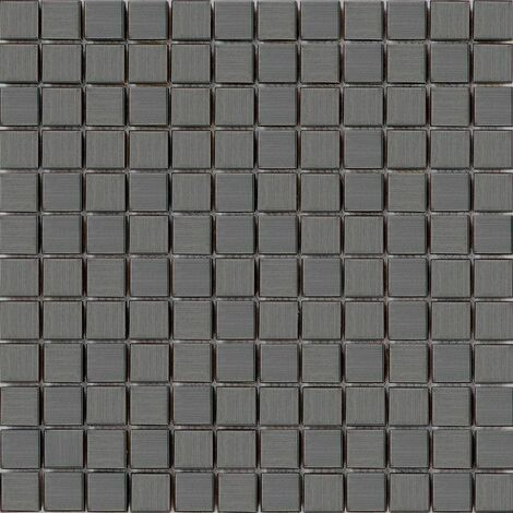 Carrelage mosaïque en acier inoxydable Noir pour les murs (MT0038)