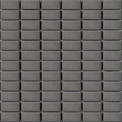 Carrelage mosaïque en acier inoxydable Noir pour les murs (MT0040)
