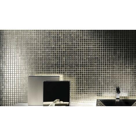 carrelage mosaique en verre argenté pour mur mv-hedra-argent
