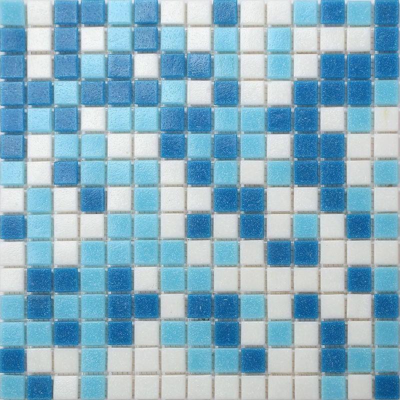 1 M2 Carrelage Mosaique En Verre Carreaux De Mosaique De Piscine Bleu Et Blanc Motif Les Feuilles Entieres De Carreaux Mesurent 32 7cm X 32 7cm
