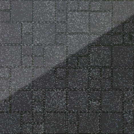Carrelage Mosaique En Verre Noir Avec Des Paillettes Multicolor Mt0011