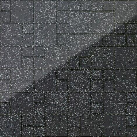 Carrelage mosaïque en verre Noir Avec des paillettes multicolor MT0011