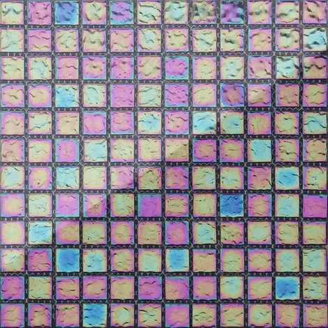 Carrelage mosaïque en verre. Nuances de violet et bleu iris (MT0042)