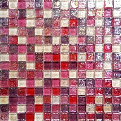 Carrelage mosaïque en verre. Rose perle. pour les murs (MT0027)