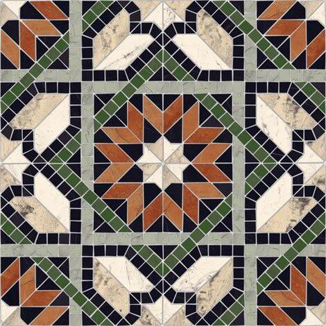 Carrelage mosaïque étoilé 43x43 Cilena Multicolor - 0.95m²