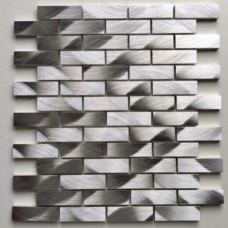 carrelage mosaique murale aluminium Atom
