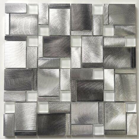 Carrelage mural aluminium pour cuisine ou salle de bains JARROD