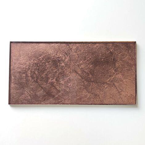carrelage mural en verre couleur cuivre cuisine ou salle de bain  indivo-cuivre