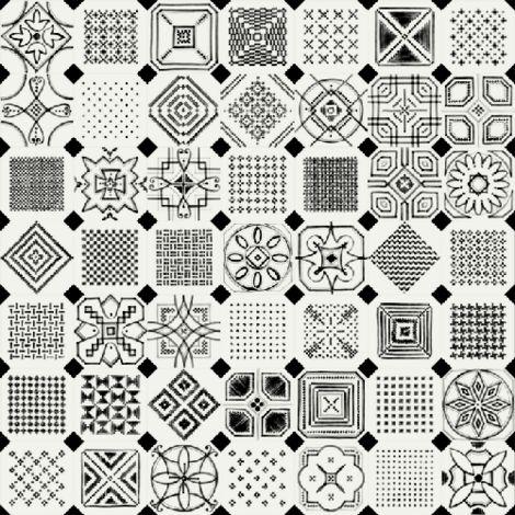 Carrelage octogonal decore 20x20 mat et cabochons VARIETTE - 1m²
