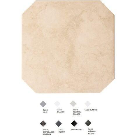 Carrelage octogonal marbré à cabochons 20x20 OCTAGON MARMOL BEIGE 21009 - 1m²   Sans cabochons