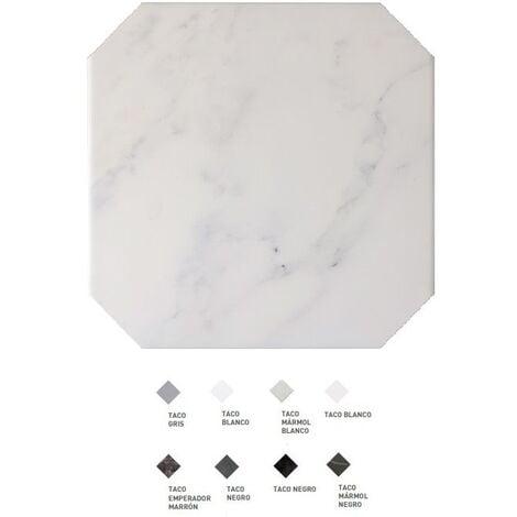 Carrelage octogonal marbré à cabochons 20x20 OCTAGON MARMOL BLANC 21010 - 1m² | Sans cabochons