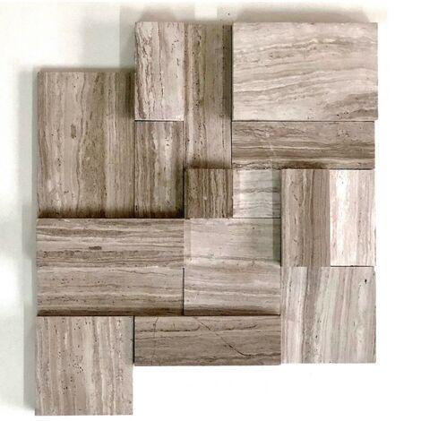 Carrelage parement 3D en marbre pour mur salle de bain Billund