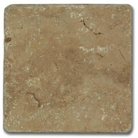 Carrelage pierre Travertin vieilli noce 10x10 cm - 0.5m²