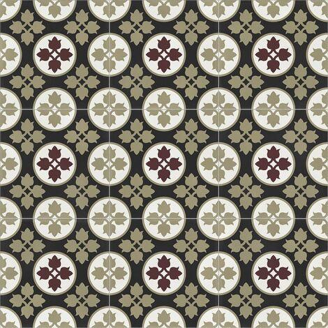 Carrelage quadrillage effet ciment rectifié - Vienna Albertina Natural 59.2x59.2 cm - R10 - 1,402m²