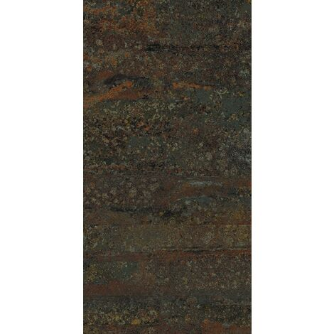 "main image of ""Carrelage rectangulaire grand format effet industriel RUST GREEN NATUREL 50X100 - Rectifié - R10- 1.48m²"""