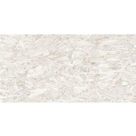 Carrelage rectifié imitation OSB bois aggloméré STRAND-R Blanco 59.3X119.3 cm - 1.42 m²