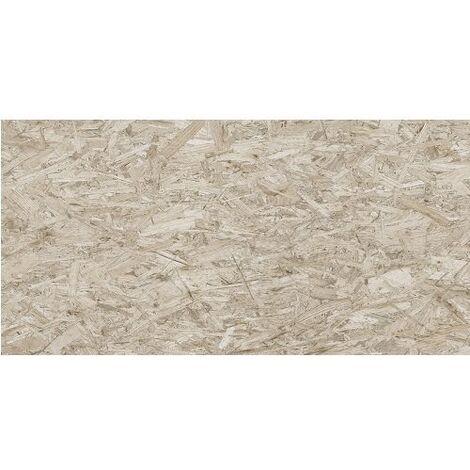 Carrelage rectifié imitation OSB bois aggloméré STRAND-R Cemento 59.3X119.3 cm - 1.42 m²