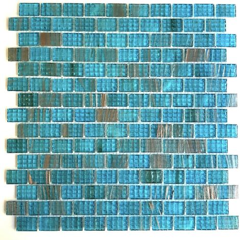 carrelage salle de bain mosaique bleu pour mur et sol pdv-kameko