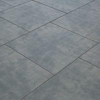 Carrelage sol exterieur pour terrasse - 60 X 60 cm - Gris Béton ciré
