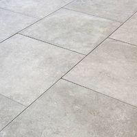 Carrelage sol exterieur pour terrasse - 80 X 80 cm - Gris Moon