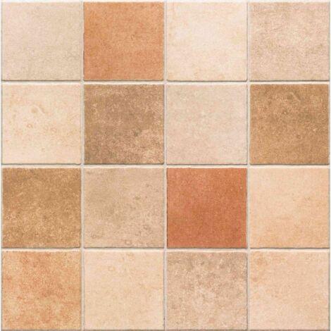 Carrelage sol ou mur style ancien PROVENZA COTTO 44x44 cm - 1.37m²