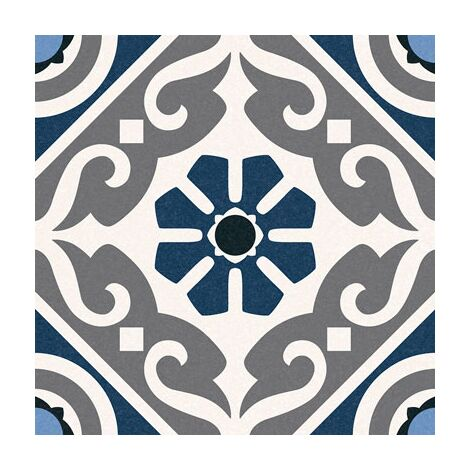 Carrelage style ancien ciment MADRAS BLUE 16.5x16.5 cm - 0.55m²