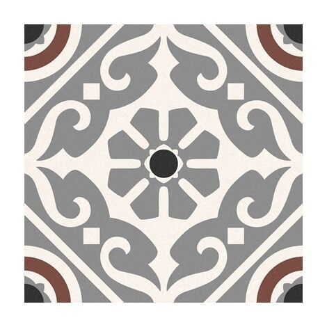 Carrelage style ancien ciment MADRAS GREY 16.5x16.5 cm - 0.55m²