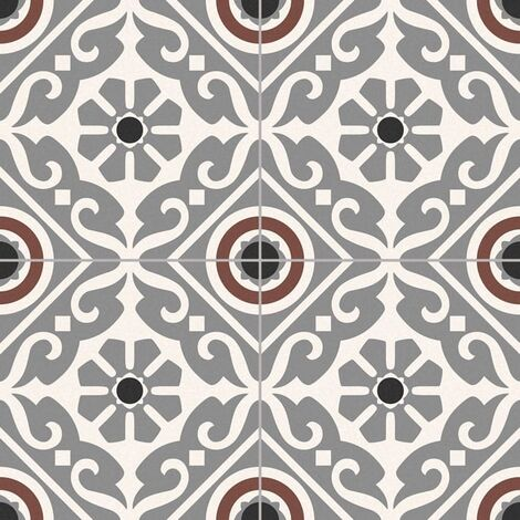Carrelage style ancien ciment MADRAS GREY 33x33 cm - 1.32m²