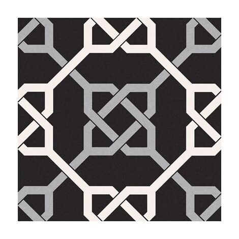 Carrelage style ancien ciment NATTE BLACK 16.5x16.5 cm - 0.55m²